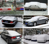 Wholesale Hot Foldable Snow Wind Rain Dust Resistant Waterproof UV Outdoor Full Car Auto Covers Silver Exterior Accessories DHL Free