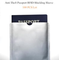 Wholesale 100 Anti Theft Contactless RFID Blocking Passport Protector Sleeves Waterproof RFID NFC Shielding Protective Holder Christmas Gift