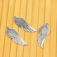 Wholesale OFF Pieces Or More DIY jewelry accessories Antique silver plated Wing Alloy charms DT0212