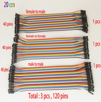 Wholesale DuPont line cm between men women and men and woman to woman jumper Dupont cable for Arduino