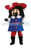 adult musketeer costume - EVA Material Helmet Customade Adult Size High quality Musketeer Porthos Mascot Costumes cartoon Apparel Unisex
