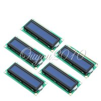 Wholesale 5pcs x2 HD44780 Character LCD Display Module Copier Laser Printer Fax LCM Blue Blacklight Modules