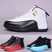 basketball gym flooring - 2016 New air retro s XII mans Basketball Shoes flu Game Gym red ovo white playoffs french blue wolf grey cherry repilcas Sneakers