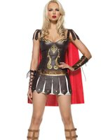 Wholesale Ladies Roman Greek Xena Gladiator Warrior Princess Roman Spartan Costume women sexy party cosplay halloween Costumes for women