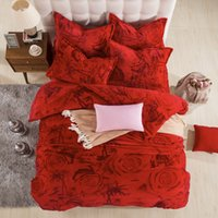Wholesale Reactive Print D Fleece fabric bedding sets luxury Full Queen King Size Bed Quilt Doona Duvet Cover Pillowcases Set New