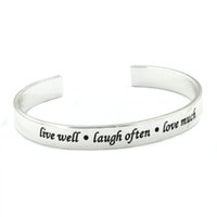 best love sayings - Copper Lettering Bracelets Bangles Copper Stamped Saying live well langh often love much Bracelet Jewelry For Women Best Gift