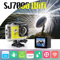 Wholesale SJ7000 Action Camera Wifi inch LTPS LED HD P Sports Waterproof DV Extreme Mini Cam Recorder Marine Diving New Cameras