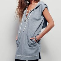 Wholesale good quality short sleeve women hoodie with hood sexy summer sweatshirt pullover sweatshirt size S XL