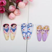 Wholesale 12pairs Doraemon Snow White Tangled princess Girls Hair clip Cartoon Hair Accessories style mixed