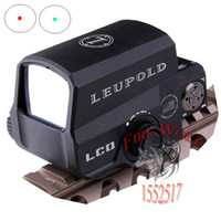 Wholesale 2016 NEW Black Holographic LEUPOLD ICO Style Red Dot Sight Fits any mm rail mount airsoft for hunting