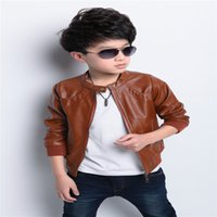 baby motorcycle clothing - 2016 new brand fashion children s PU leather motorcycle jacket autumn spring kids outwear children cool coat baby boy clothes
