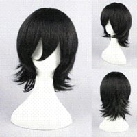 Wholesale 35cm Short Bleach Cosplay Hair wigs Kojima Mizuiro Black Anime Wig Synthetic Hair Wigs Cosplay Wigs
