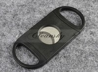 Wholesale DHL Fedex Free Pocket Cigar Cutter Plastic Stainless Steel two Blades Scissors Cigar knives good gifts M349