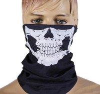 america bandana - 2016 New Skull Europe and America Style Skull Design Multi Function Bandana Motorcycle Biker Face Mask Neck Tube Scarf