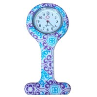 Wholesale New Silicone Colorful Prints Medical Nurse Watch Cute Patterns Fob Quartz Watch Doctor Watch pocket Watches