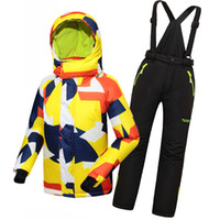 baby ski suits - NEW Children s Ski Suit For Girls And Boys Waterproof Windproof Hiking Snowboard Jacket Winter Baby Sport Clothes Set