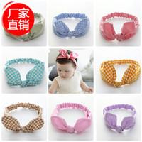 baby bow bandeau - Newborn Baby Knot Headband Hair Bow Bandeau Bebe Turban Kids Accessories Elastic Headbands Polka Dot Baby Hair Accessories