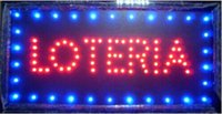 Wholesale 2016 hot sale manufacture x19 Inch Semi outdoor Ultra Bright running loteria lottery sign of led