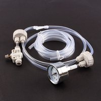Wholesale 1Set White DIY Aquarium Planted Tank CO2 System Pro Tube Valve Guage Bottle Cap Kit