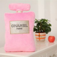 Wholesale Cushion Toys Perfume bottle shape pillow cushion gift present creative home decorative soft pillow Cheap gift orchid