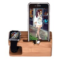 Wholesale Bamboo Wood Charging Station Charger Dock Stand Holder For Apple Watch Phone For iWatch For iPhone