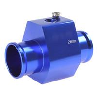 aluminium tee - Aluminium HK5 Three way Tee Valve Adapter For quot NPT Car Water Temperature Temp Sensor Digital Gauge Meter
