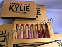 Wholesale IN Stock Kylie Lord Metal Gold lip gloss LIMITED EDITION KYLIE BIRTHDAY COLLECTION Kylie Cosmetics Birthday Edition with DHL SHIPPING