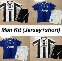 Wholesale Best quality Send Free MANS ADULTS KITS Juventus jerseys pogba DYBALA HIGUAIN buffon morata shirt
