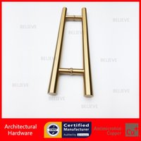 Wholesale Entrance Door Handle PA Golden Grade Stainless Steel Pull Handles Ti Gold Electroplate CE Standard
