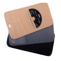 aluminum clipper case - 12Pcs Disks Car Auto Visor CD DVD Disk Card Case Holder Clipper Bag Car Sun Visors cd Holder Single Layer Car CD Wallet Holder