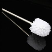 best bathroom cleaner - Replacement Stainless Steel WC Bathroom Cleaning Toilet Brush White Head Hold Bathroom Tool Best Promotion