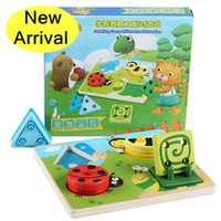 animal preschool games - Baby Toys Macthing Game Of Preschool Education Wooden Toys Geometric Color Cognitive Animal Building Blocks Christmas Gift