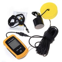 Wholesale Portable Fish Finder Depth Sonar Sounder Alarm Transducer LCD Tester Fishfinder Fishing Bait Tool Pesca Tackle Gift H150141C