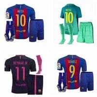 barcelona mix - DHL Mixed buy Barcelona kit jerseys Socks Third Jersey Messi Soccer jerseys Green Messi Neymar jr Suarez Second rd Barce