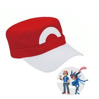 ash trainers sale - Hot Sale Anime Cosplay Cartoon Poke Pocket Monster Ash Ketchum Baseball Trainer Cap Hat Gift Cool Fashionable XL H12