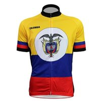 bicycle jerseys discount - New Colombia Alien SportsWear Mens Comfortable Bicycle shirt Colombian flag national emblem Alien cycling jersey jerseys Discount
