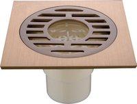 Wholesale Antique plated bathroom floor drain square kitchen grat waste shower floor drainer deodorant sealling