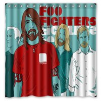achat en gros de motifs de tissus sur mesure-Livraison gratuite Foo Fighters Pattern Music Band 01 personnalisés 180 x 180 cm tissu imperméable Mode de bain Rideau de douche