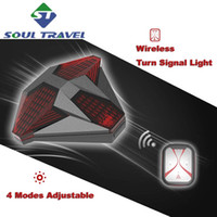 bicycle signal lights - Soul Travel Bicycle Wireless Turn Signal Light Steering Lamp Micro USB Charging Remote Control Rear light Mountain Bike New Hot