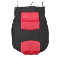 Red auto interior fabric - 10pcs Universal Sandwich Fabrics Car Seat Cover Set Four Seasons Auto Cushion Interior Accessories Cheap fabric dog collar pattern