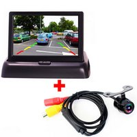 Wholesale High Resolution quot Color TFT LCD Folding Car Parking Assistance Monitors DC V Foldable Car Monitor With Rear View Camera