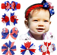 american flag clip - 2016 New American Flag Clip Baby Girl Bow Hairpin Baby Fashion Barrettes Children Holiday Hair Accessories HC084