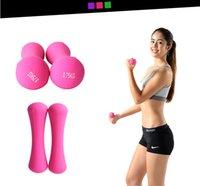 aerobics equipment - kg women Aerobics exercise workout yoga dumbbell for fitness equipment weights pesas Bone shape plastic dip in dumbbell