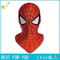 Wholesale New hot Halloween Cosplay Costume marvel bounce spider man mask for adults or children Full Face Mask