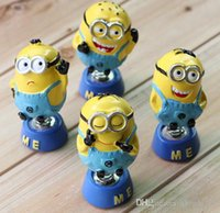 Wholesale HHA Cute Despicable me vehicle car Accessories minions action figure Interior spring Decorations creative gift