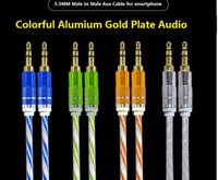 aux video cable - Alumium metal mm Stereo headphone Aux Cable for Samsung Iphone Cable