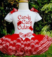 canes - 2016 Baby Girl christmas dress sweet princess vestidos candy cane cutie letter print Clothes best gift kids TUTU Party Tulle funny Dresses