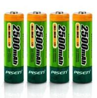 aa capacity - High quality PISEN high capacity Ni MH AA rechargable batteries fo BBS wireless microphone wheat KTV etc