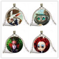 alice gems - high quality cheap Gem necklace Alice in Wonderland cat time Europe and vintage necklaces factory direct