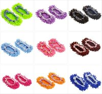 Wholesale 1 Pair of Lazy Mopping Shoes Floor Moppers Slippers Mop Floor Polishing Dusting Cleaning Cover Cleaner Cleaning Foot Socks